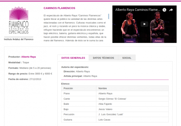Rojomorgan Drupal Case Study Catalog of Flamenco Shows in Andalusia show profile