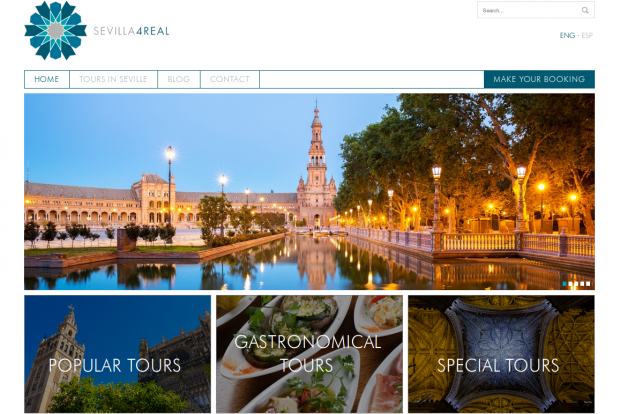 Rojomorgan Drupal Case Study Sevilla4Real home