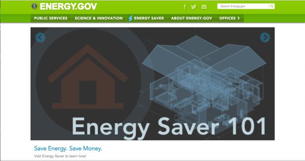 Energy.gov homepage