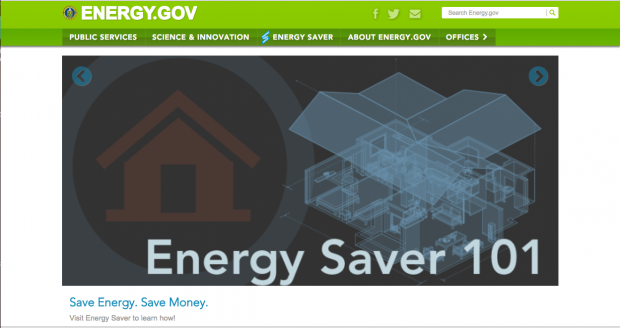 Energy.gov homepage