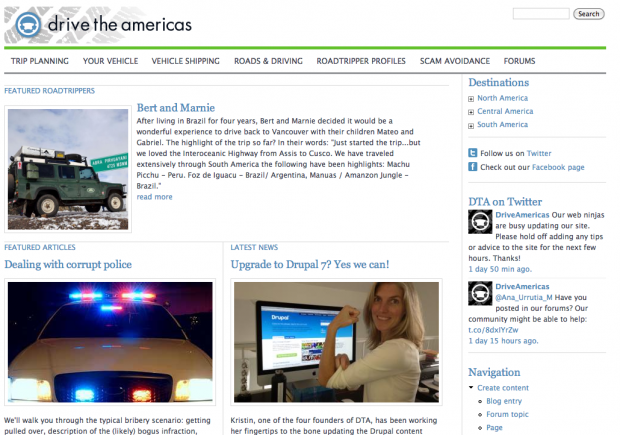 Drive the Americas Home Page