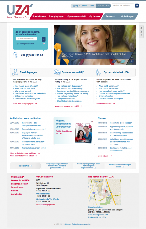 UZA Antwerp University Hospital - Wunderkraut - Drupal website