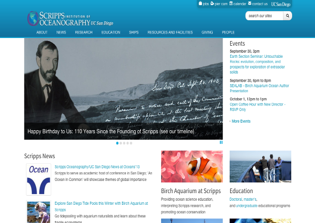Scripps homepage