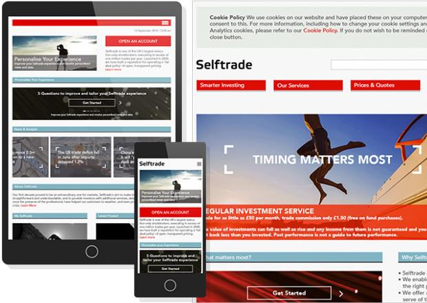Selftrade responsive home page