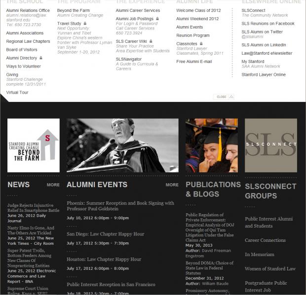 Stanford Law School Alumni Portal