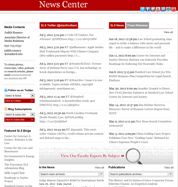 Stanford Law School News Center