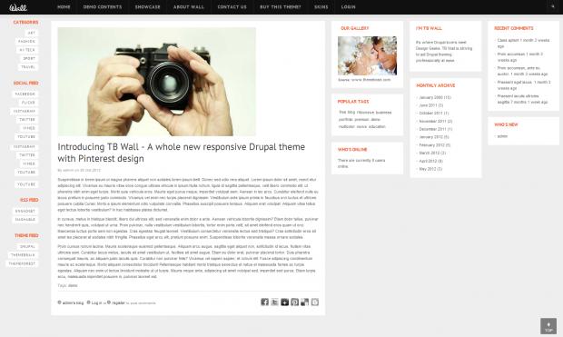 TB Wall Article page screenshot