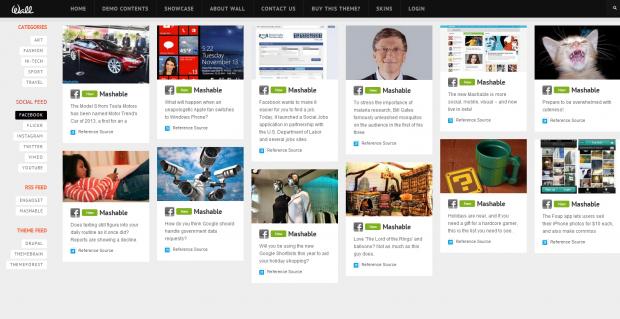 TB Wall Social Feed feature screenshot