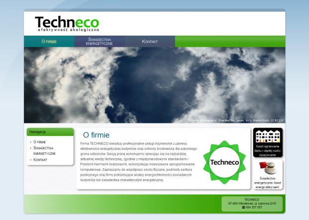 Main Page Of Techneco Website