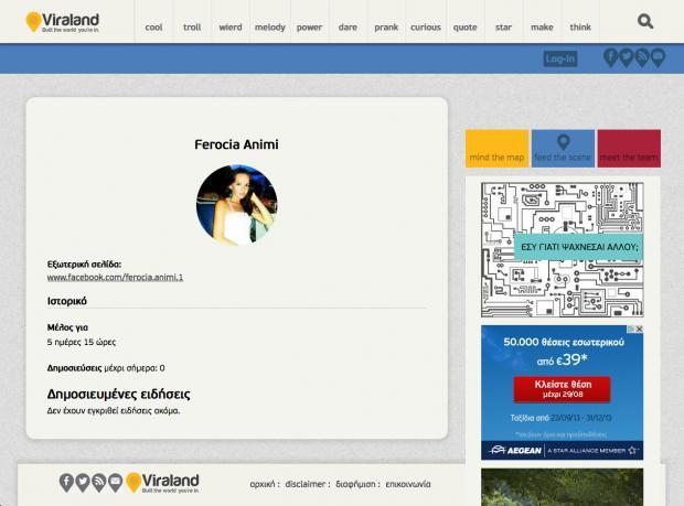 Viraland - User page