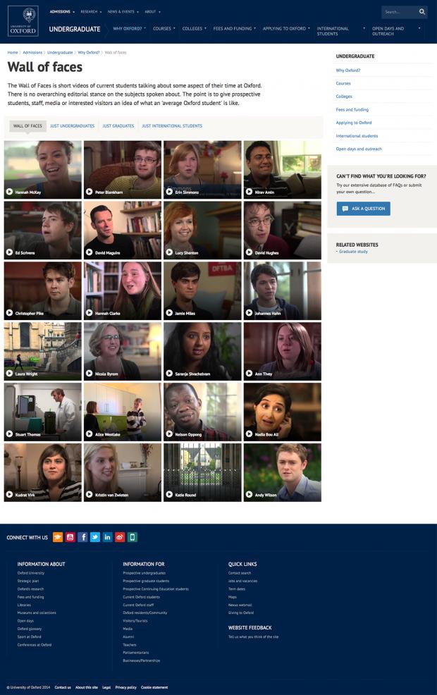 Oxford University video wall screenshot