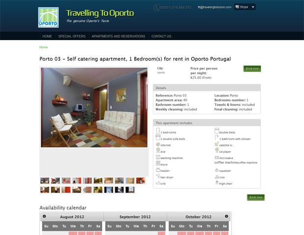 Appartment page