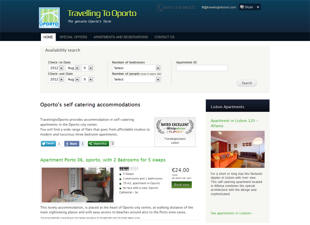 Travelling to Oporto apartment list