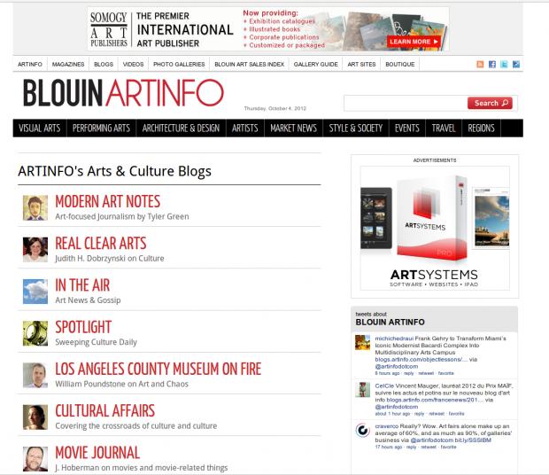 artinfo blogs