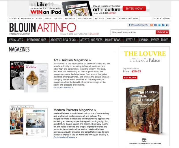 artinfo magazines