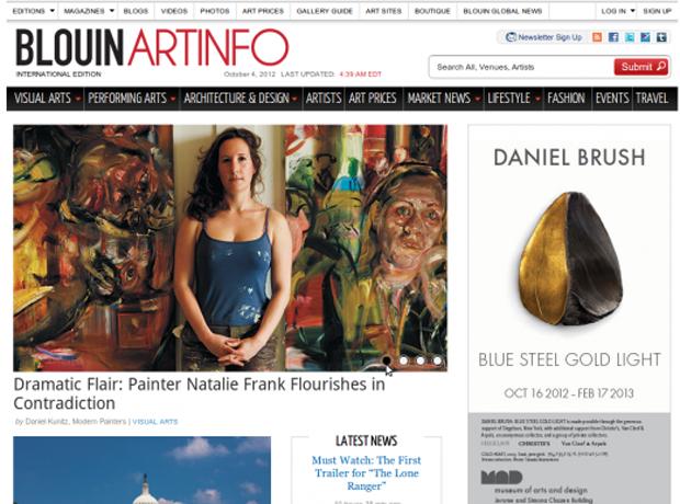 Artinfo.com frontpage screenshot
