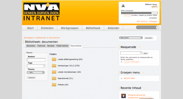 Library - NV-A intranet