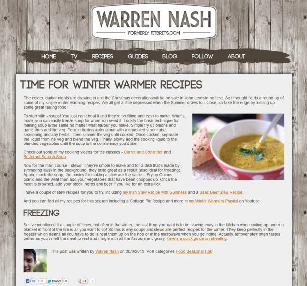 Warren Nash Blog
