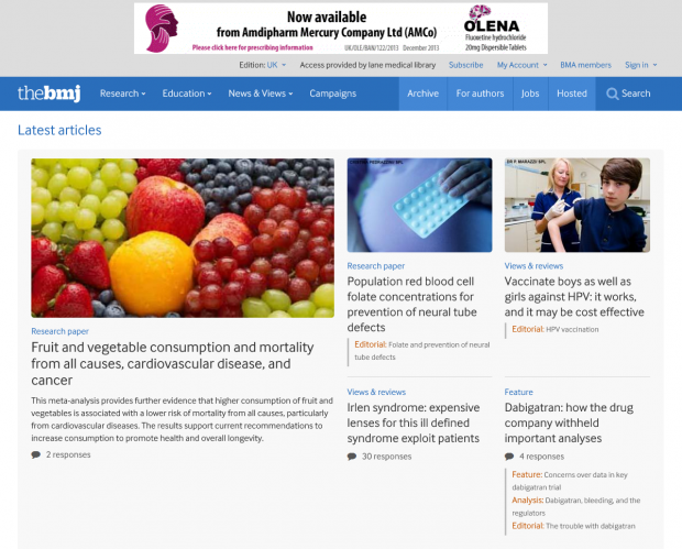 The BMJ home page