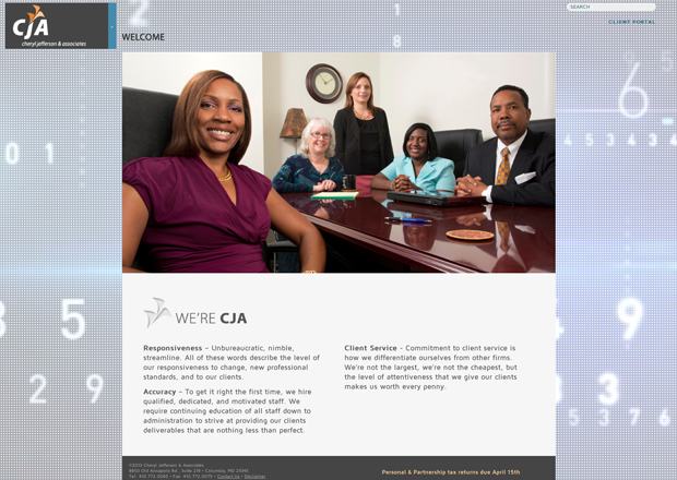 Cheryl Jefferson & Associates screen shot