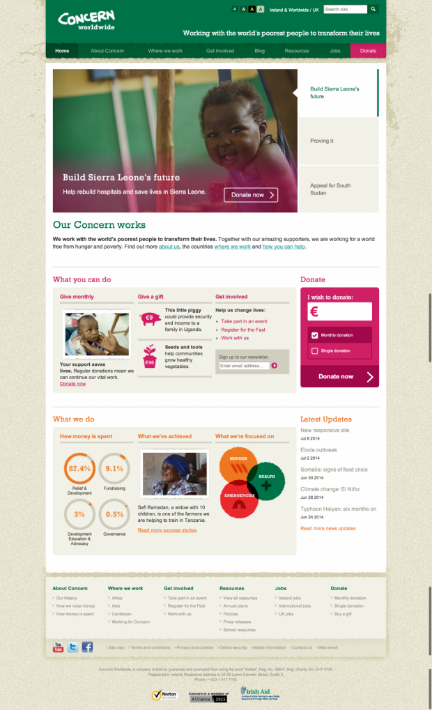 homepage on concern.net
