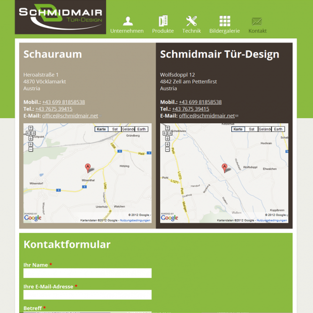 Schmidmair Tür-Design Contact