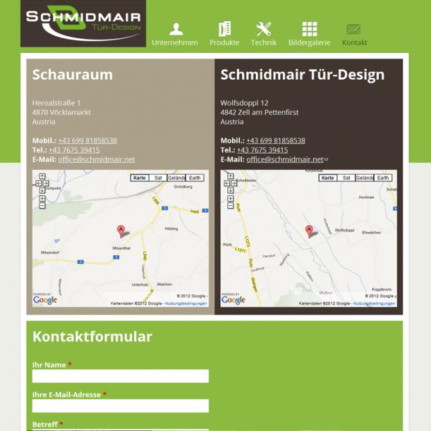 Schmidmair Tür-Design Contact