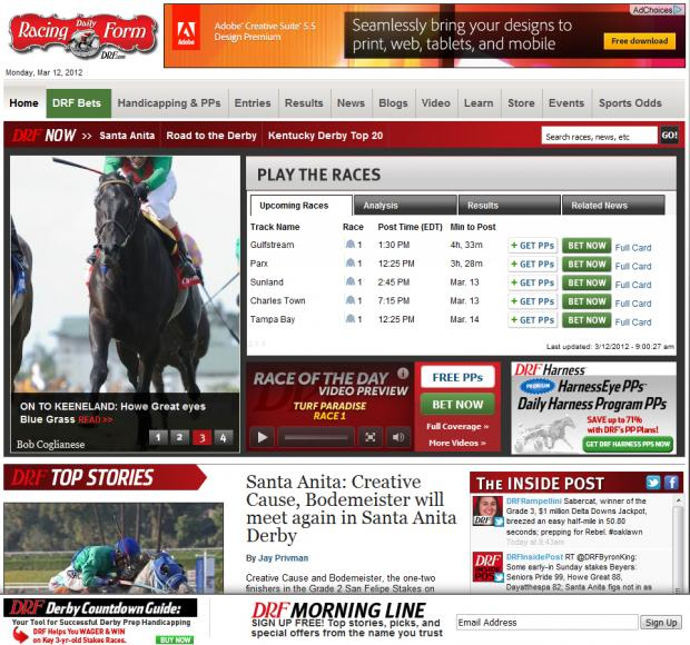 The Daily Racing Form Drupal