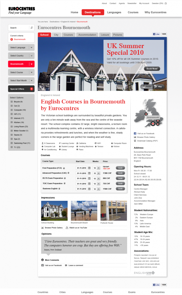Language School Bournemouth Detail Page - Provided by Cando