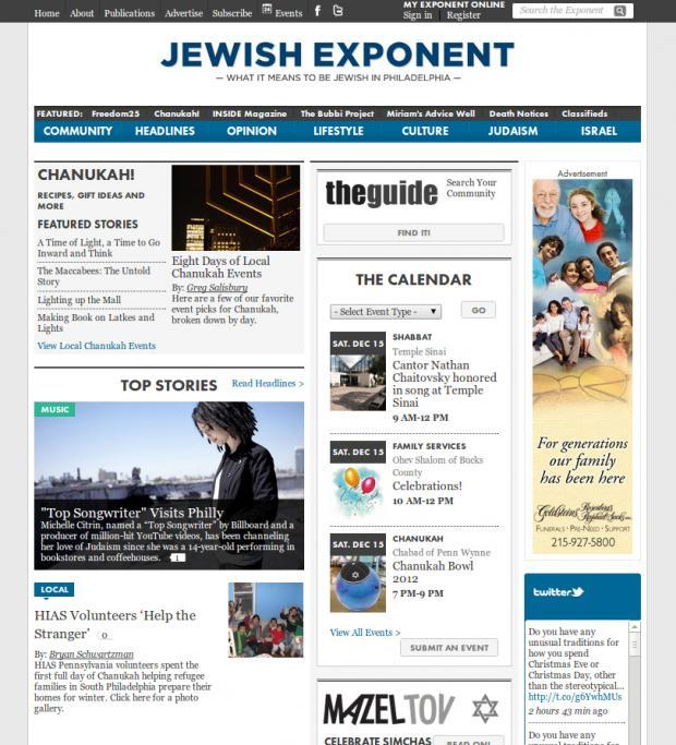 Jewish Exponent Home Page