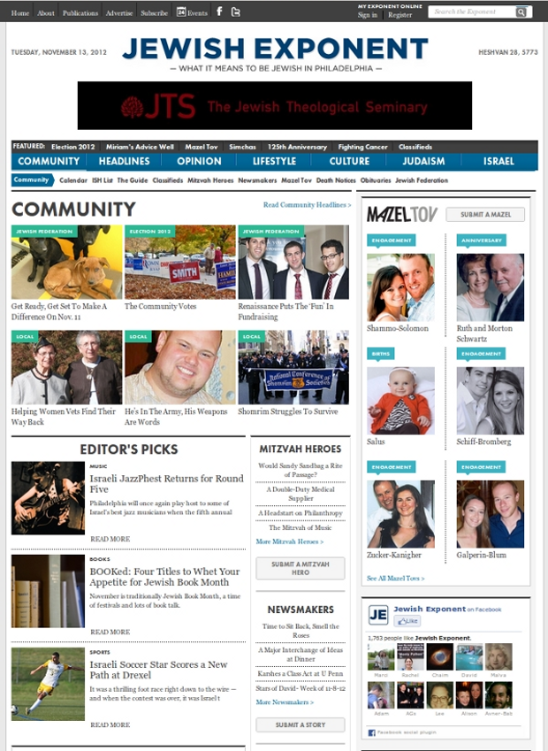 Jewish Exponent Community Page
