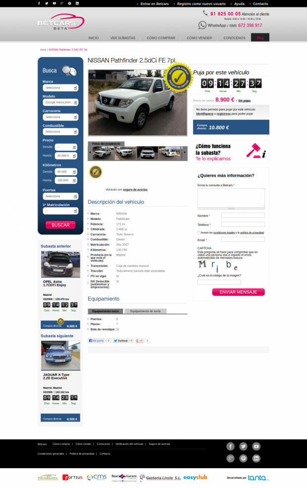 auction page
