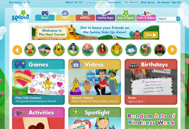 SproutOnline Homepage Screenshot