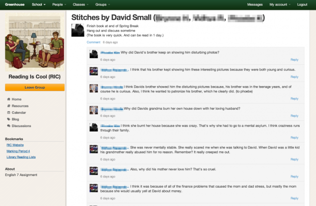 Greenhouse Discussion Page Example
