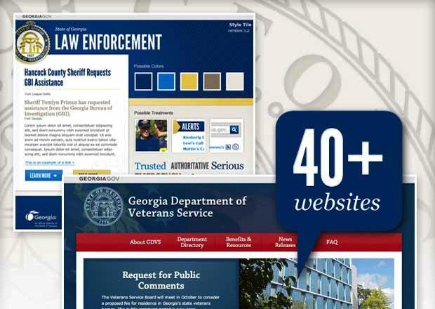 Georgia.gov website collage