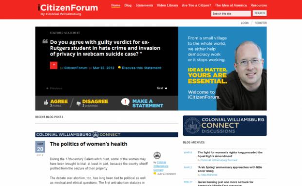 The home page of iCitizenForum.com