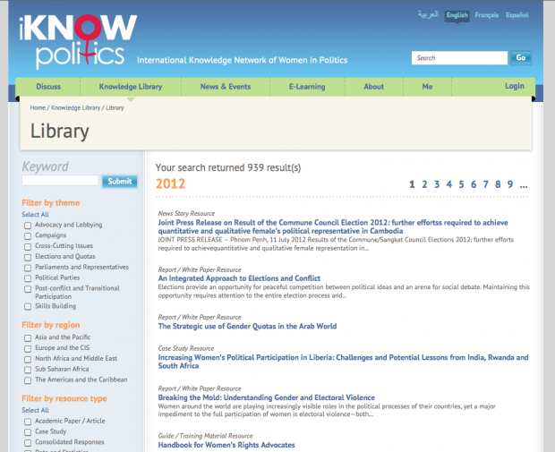 Library Search Page