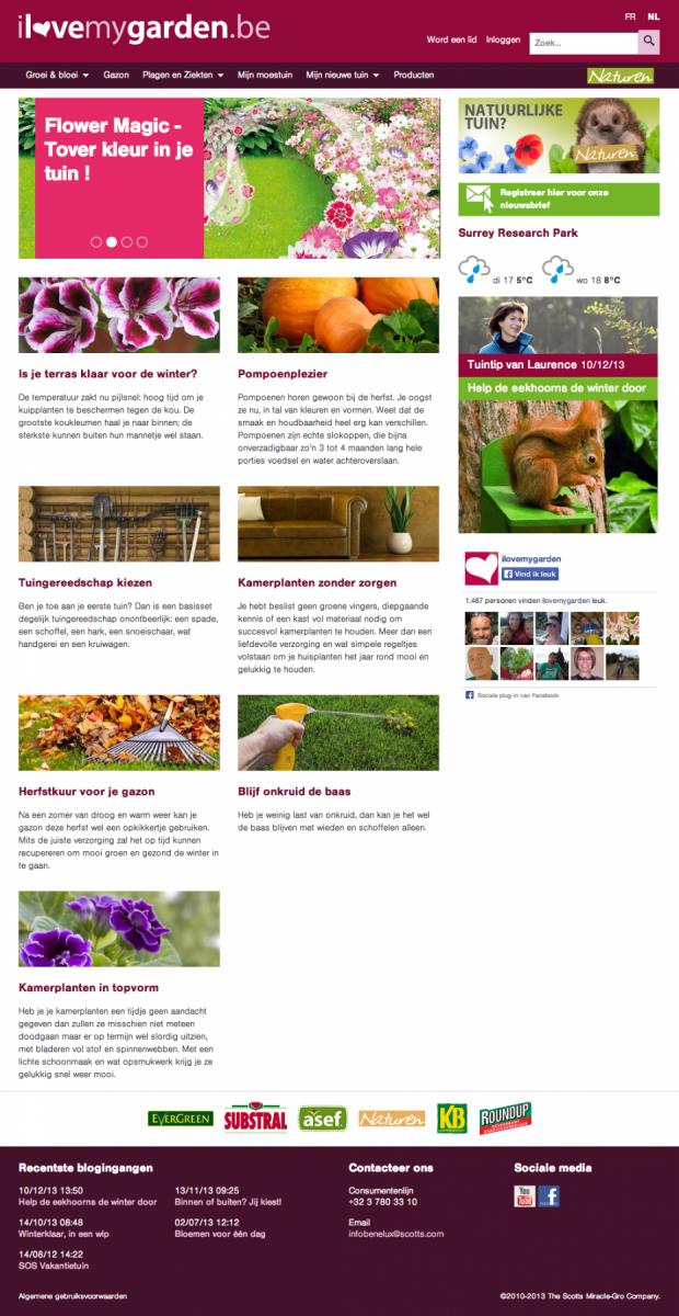 I Love my Garden - Benelux, Belgium homepage