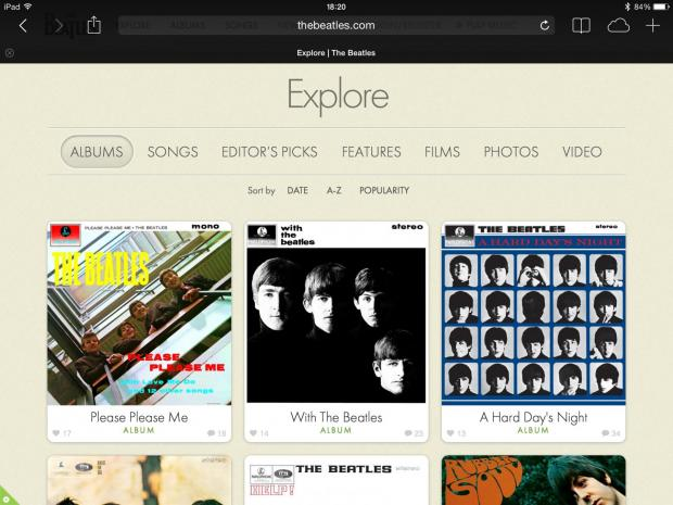 The Beatles Explore Page