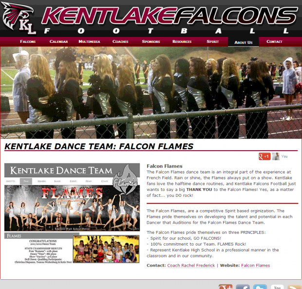 Screenshot of the Kentlake Flames - Kentlake High School's Dance Team