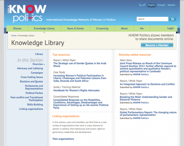 Knowledge Library Landing Page