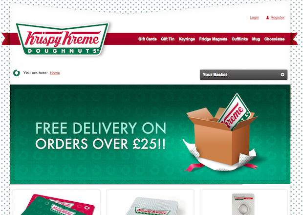 Krispy Kreme Gifts Store Home Page