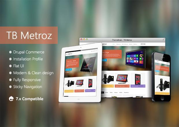 Responsive TB Metroz - eCommerce Drupal theme