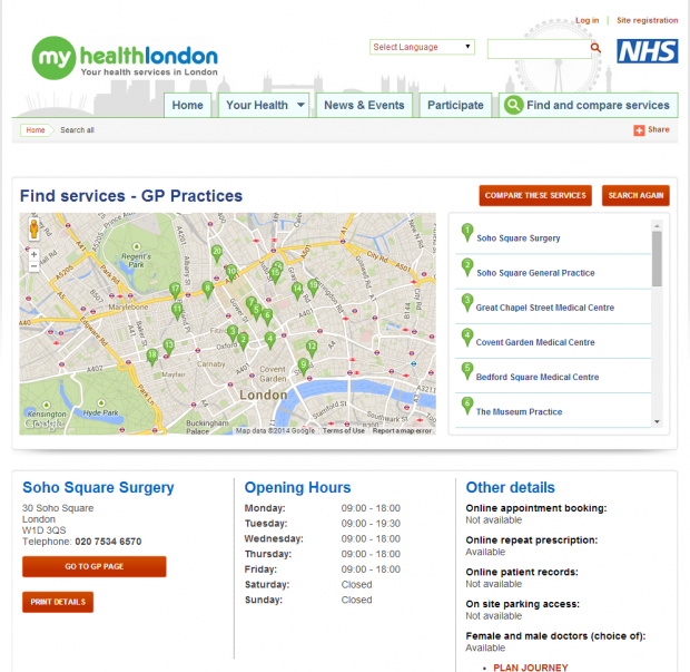 mhl Services search result