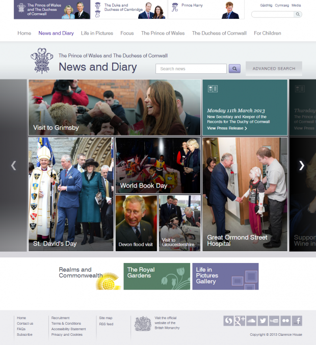 News and Diary slider