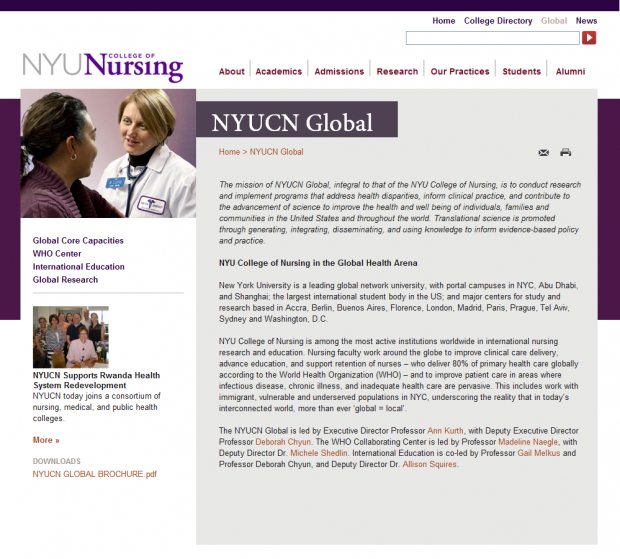 NYU College of Nursing (NYUCN) | Drupal org