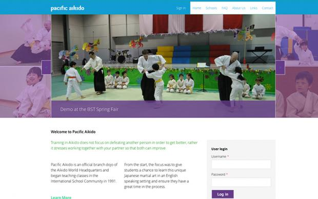 Pacific Aikido - top page screenshot