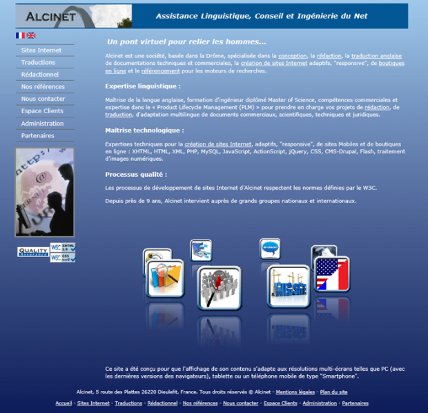 Home page of Alcinet website