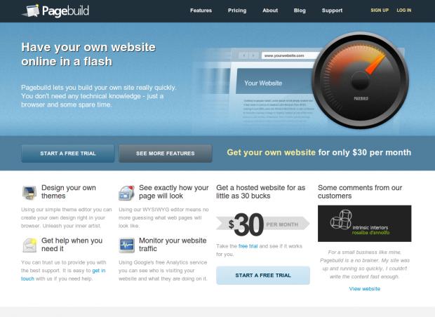 Pagebuild Homepage