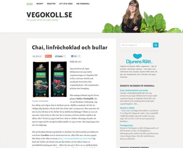 Front page of Vegokoll.se